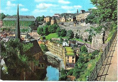 Luxembourg City, Luxembourg - Alzette Valley - postcard c.1860s