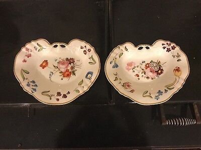 A Pair Of Early 19th Century English Porcelain Shaped Dishes