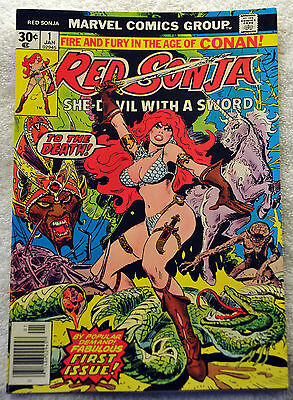 Red Sonja #1 (1977) First titled series, Movie Remake, Frank Thorne, NM Range.