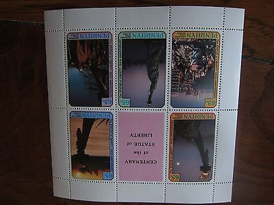 Northern Cook Island Souvenir sheets - set of 2 - 5 stamps each sheet