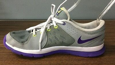 Nike Women's Purple, White, And Green Training Shoes Size 10
