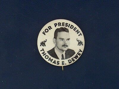 campaign pin pinback button political badge election DEWEY ADVERTISING 1.25""