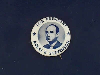 campaign pin pinback button political badge election STEVENSON ADVERTISING 1.25
