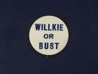campaign pin pinback button political badge election WILLKIE ADVERTISING 1.25""