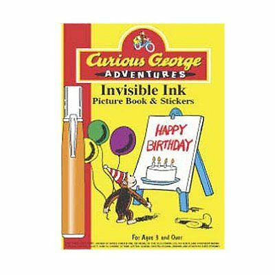 Curious George Adventures Invisible Ink Picture Book and Stickers