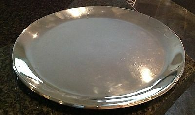 Juventino Lopez Reyes STERLING SILVER MODERNISTIC Round tray  610 grams