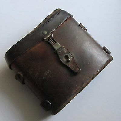 Ww2 German Army Dienst Glass Leather Binocular Case. With Belt Attachment Loop