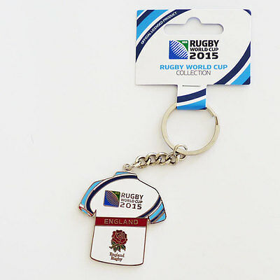 Rugby World Cup 2015 England Rugby Jersey Flag Key Ring