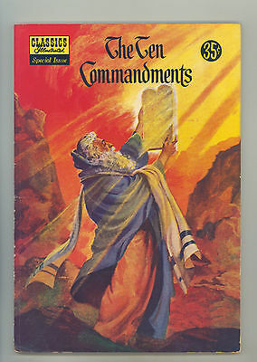 Classics Illustrated Special #135-a FN+ Painted Cover Art, The Ten Commandments