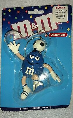 M&M's BLUE Soccer Player Ornament