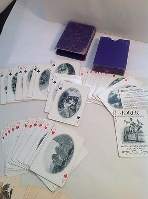 Rocky Mountain Souvenir Playing Cards, c1899, 1900 Tom Jones, Hochman Complete