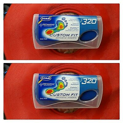 Dr. Scholl's Custom Fit CF320 2 Pair NIB Orthotic Inserts insoles