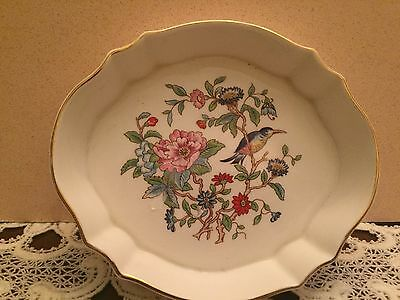 """Aynsley Pembroke Small Dish Fluted Edges Gold Trim 5.25"""""""