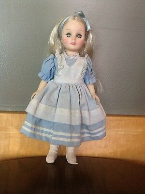 "Effanbee Alice in Wonderland Storybook Doll 11"" vintage 1975 vinyl 1175 Disney"