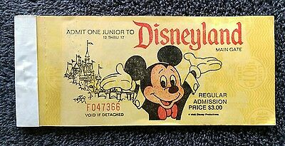 Vintage Disneyland 1973 *Complete* Junior Ticket Book