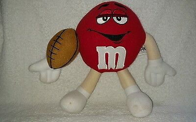 M&M's RED Plush Stuffed Football Player