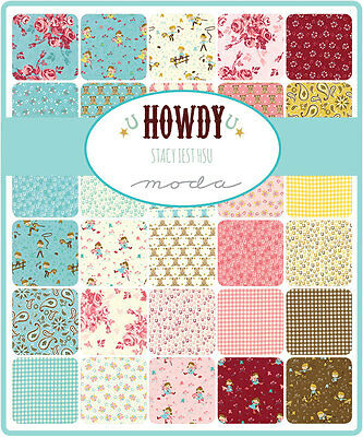 Patchwork/quilting Fabric Moda Howdy Charm Pack