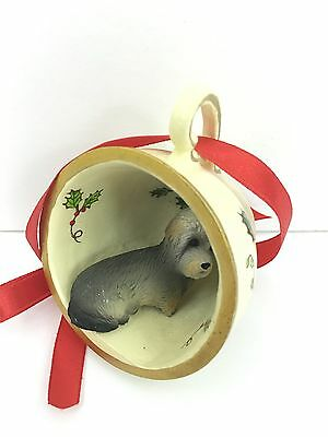 Dandie Dinmont Terrier Tea Cup Christmas Ornament Holiday Dog Figurine