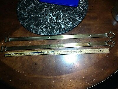 "A Set Of 2 Vintage Solid Brass 27"" Inch Long Brackets???"
