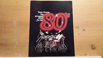 TAMA drum catalog, 1980. Full color. Hardware poster. VG Condition!