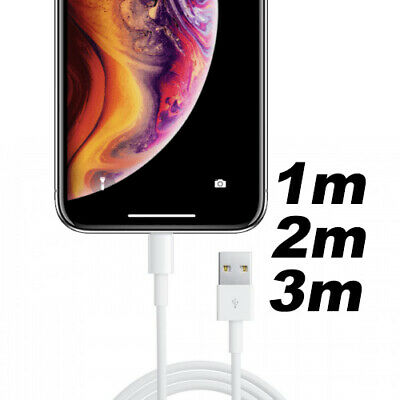 1m/2m/3m iPhone Xs Max 8 7 Plus 6 SE USB Data Sync Charger Cable iPad For Apple