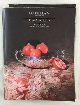 Auction Catalogue 1993 Sotheby's Fine Americana Furniture Chinese Porcelain ++