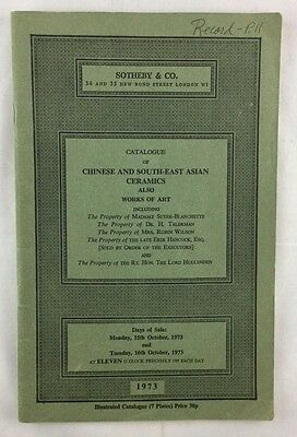 Auction Catalogue 1973 Sotheby Chinese and Southeast Asian Ceramics London