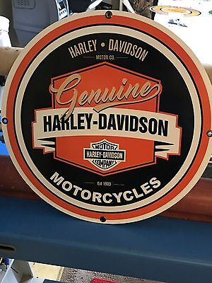 "Harley Davidson  Sign Large 24"" Antique Porcelain Look Vintage Old Style Sweet"