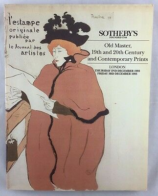 Auction Catalogue 1993 Sotheby's Old Master and Contemporary Prints London