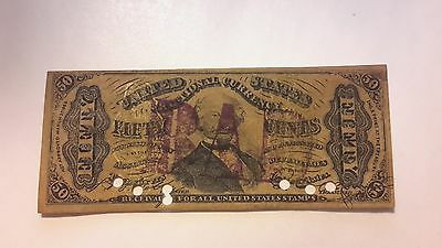 Contemporary Counterfeit .50 Cents Fractional Currency-Very Nice Condition