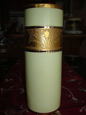 """1914 LIMOGES B&Co HAND PAINTED STOUFFER STUDIO VASE, ETCHED GOLD, 10 1/4"""""""