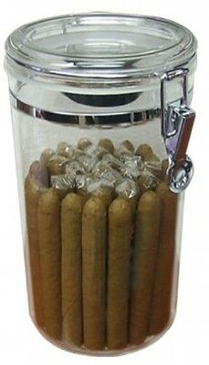 Prestige Import Group AJ25 25 Count Acrylic Humidor Jar With Humidifier