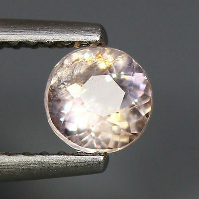 0.54 Cts_World Class Very Rare Gemstone_100% Natural Peach Pink Morganite_Brazil