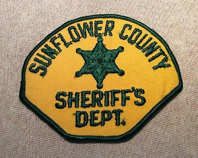 MS Sunflower County Mississippi Sheriff Patch
