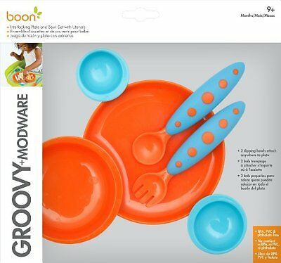 boon groovy + modware (bowl & plate set)