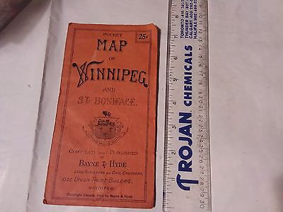 Vintage Pocket Map Of Winnipeg
