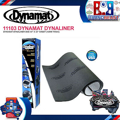 "Dynamat Dynaliner 11103 Sheet 54"" X 32"" (12 Square Feet Total )12mm Thick"