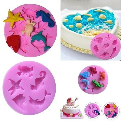 3D Sea Conch Shell Silicone Cake Mould Fondant Candy Chocolate Decor Baking Tool