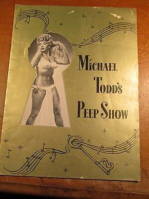 Michael Todd's Peep Show 1950 Souvenir Program In Gold Covers W Lilly Christine