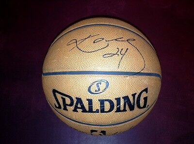 Los Angeles Lakers 2014-15 Game Used NBA Basketball Signed By Kobe Bryant