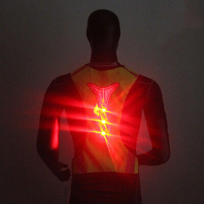 LED Reflective Vest Jacket for Night Sports Running Cycling High Visibility