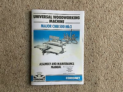 Coronet Major woodworking machine instruction manual for Mk3 but others similar