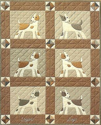 "~ Fun New Pattern ~  Alert Puppies ~ Pieced & Applique ~ 47""x58"" Crib Quilt ~"