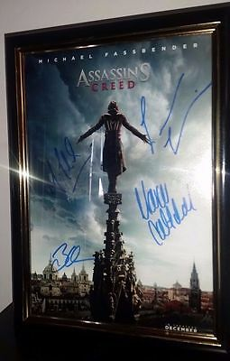 Assasins Creed Hand Signed With Coa Cotillard Irons Fassbender Gleeson 8X10