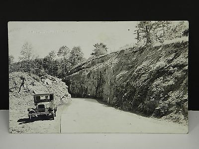 Vintage Postcard RPPC New Roadway Old Car/Automobile Wyalusing PA Real Photo