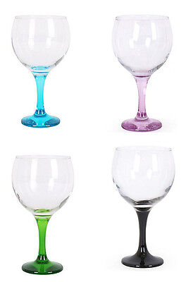 Box of 4 Gin and tonic cocktail wine balloon glasses 650ml MULTICOLOUR foot