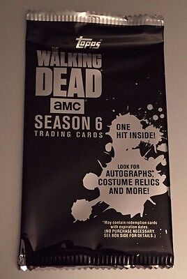 2017 TOPPS WALKING DEAD SEASON 6 Guaranteed Relic or Auto Relic HOT PACK Negan?