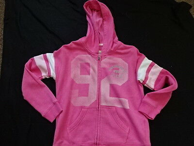 ABERCROMBIE KIDS Girls Pink Full Zip Hoodie 11-12 Years