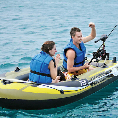 Inflatable Boat Kayak Yacht Fishing Boats Raft Canoe with Oars and Air Pump Set
