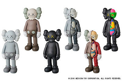 2016 KAWS COMPANION OPEN EDITION MEDICOM TOY PLUS ALL 6 SETS Be@rbrick Authentic